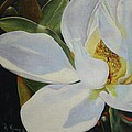 Oil Painting - Sydney's Magnolia by Roena King