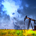 Oil Pump Field by Wingsdomain Art and Photography