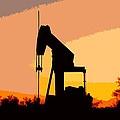 Oil Pump In Sunset by James Granberry