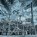 Oil Refinery In High Definition by Christian Lagereek