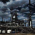 Oil Refinery Sinclair Wyoming by Cathy Anderson