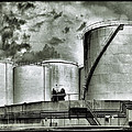 Oil Storage Tanks 1 by Dominic Piperata