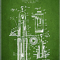 Oil Well Pump Patent From 1912 - Green by Aged Pixel