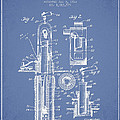 Oil Well Pump Patent From 1912 - Light Blue by Aged Pixel