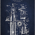Oil Well Pump Patent From 1912 - Navy Blue by Aged Pixel