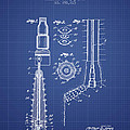 Oil Well Reamer Patent From 1924 - Blueprint by Aged Pixel