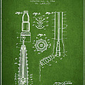 Oil Well Reamer Patent From 1924 - Green by Aged Pixel