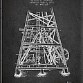 Oil Well Rig Patent From 1893 - Dark by Aged Pixel