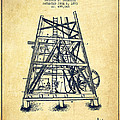 Oil Well Rig Patent From 1893 - Vintage by Aged Pixel