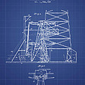 Oil Well Rig Patent From 1917 - Blueprint by Aged Pixel