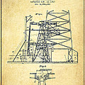 Oil Well Rig Patent From 1917- Vintage by Aged Pixel