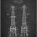 Oil Well Rig Patent From 1927 - Dark by Aged Pixel