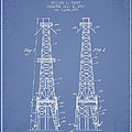 Oil Well Rig Patent From 1927 - Light Blue by Aged Pixel