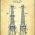 Oil Well Rig Patent From 1927 - Vintage by Aged Pixel