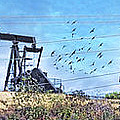 Oil Wells On A Hill by Chuck Staley