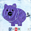 Oink the Pig License Plate Art by Design Turnpike
