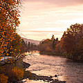 Okanogan River In The Fall by Caroline Henry
