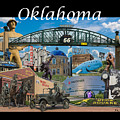 Oklahoma Collage With Words by Roberta Peake