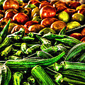 Okra And Tomatoes by David Morefield