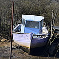 Old Abandoned Boat by Bishopston Fine Art