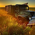 Old Abandoned Farm Truck by Gemstone Images