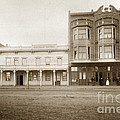 Old And New Salinas Hotel Was On West Market Street Circa 1885 by California Views Archives Mr Pat Hathaway Archives