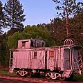 Old And Weathered Caboose by John Malone