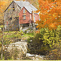 Old Barn And Dam In Autunm Vienna Maine by Keith Webber Jr