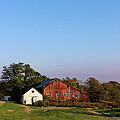 Old Barn At Sunset by Karen Adams