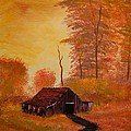 Old Barn In Autumn by Shannon Wells