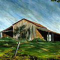 Old Barn Landscape Art Pleasant Hill Louisiana  by Lenora  De Lude