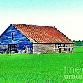 Old Barn On Treaty Road Oakhill Kansas by PainterArtist FIN