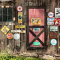 Old Barn Signs - Door And Window - Shadow Play by Gary Heller