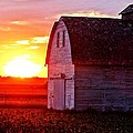 Old Barn Sunset by Jeremey Gregg