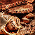 Old Baseball Gloves by Bill Wakeley
