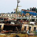 Old B.c. Rusted Ferry by Randy Harris