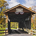 Old Bedford Village Covered Bridge Entrance by Timothy Flanigan
