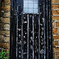 Vintage Cottage Black Door by Doc Braham
