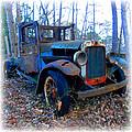 Old Blue Pickup Truck by K Scott Teeters