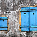 Old Blue Shutters by Dave Mills