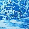 Old Blue Truck by Geoffrey Haun