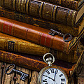 Old Books And Pocketwatch by Garry Gay