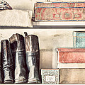 Old Boots And Boxes - On The Shelves Of A 19th Century General Store by Gary Heller