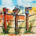 Old Boots On Old Fence by Elaine Duras