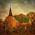 Old Brick Church In Autumn by Peggy Collins
