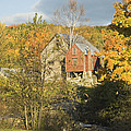 Old Buildings And Fall Colors In Vienna Maine by Keith Webber Jr