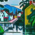 Old Canal Port by Oscar Bluemner