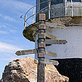 Old Cape Point Lighthouse In South Africa by Catherine Sherman