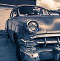 Old Car In Front Of Garage by Edward Fielding