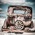 Old Car In The Snow by Edward Fielding